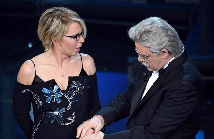 Maria De Filippi e Maurizio Crozza