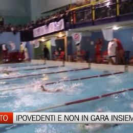 Csi nuoto: ipovedenti ion vasca a Romano di Lombardia