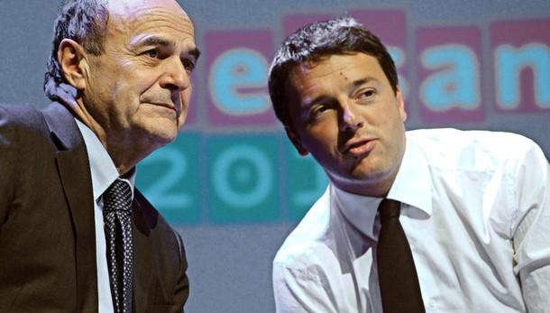 Bersani a Renzi, fermati prima c'è paese