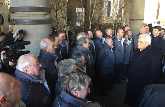 Il coro Idica canta per il presidente Mattarella