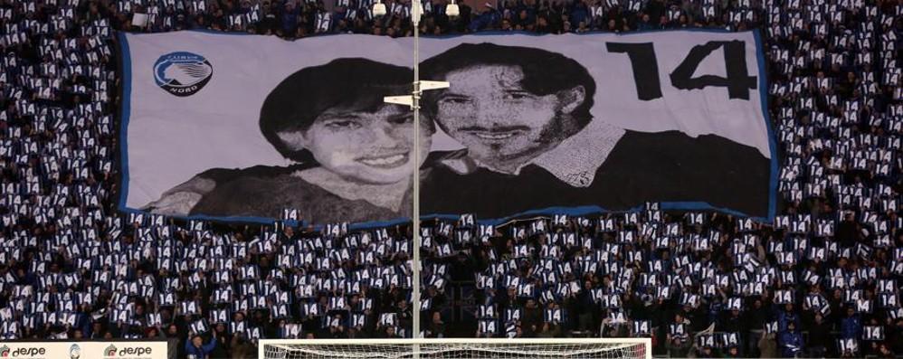 L'Atalanta e i suoi tifosi ricordano Pisani «Per sempre nei nostri cuori» -Video/Foto
