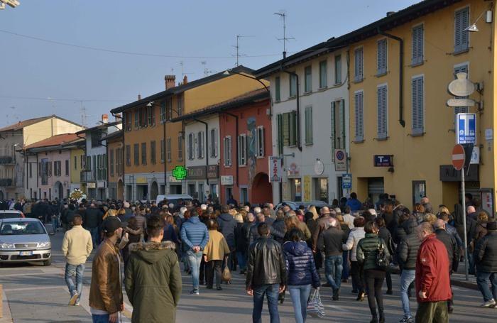 Funerali di Simone Pagani e Roberto Pizzetti a Calcio