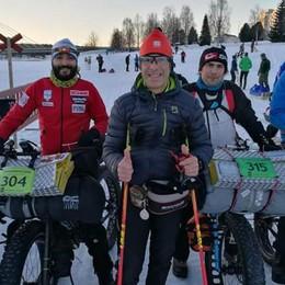 Saluti dai - 20° di Rovaniemi, Lapponia Due bergamaschi all'ultramaratona
