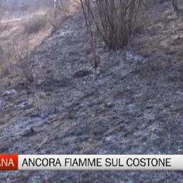 Ancora fiamme al  Ponte del Costone