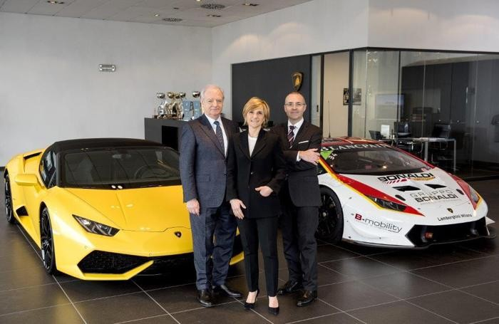 Da sinistra, Gianemilio Brusa, Simona Bonaldi e Michele Brusa
