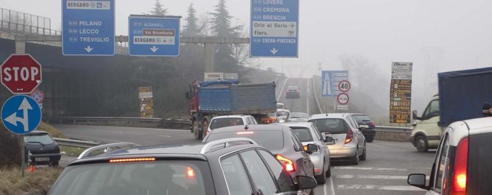 Bergamo, rondò dell'A4 La via d'uscita è un sottopasso