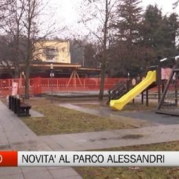 Albino, lavori terminati al parco Alessandri