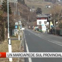 Gromo, un nuovo marciapiede sulla strada provinciale