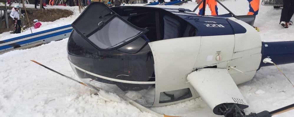 Il passeggero dell'elicottero caduto «Attimi di terrore, il pilota è stato bravo»