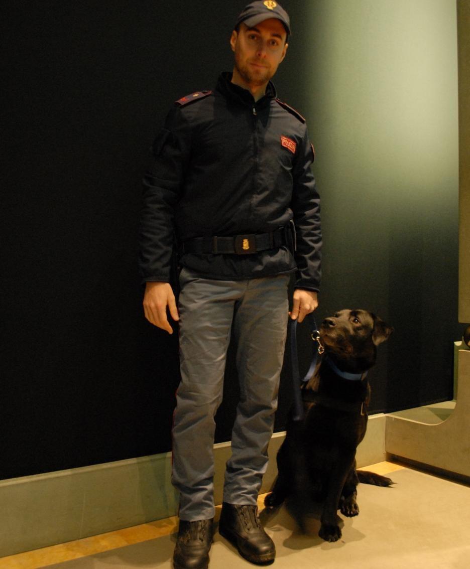 Matteo Palladinetti con il suo cane Leo