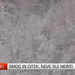 Smog in città con nuovi divieti, neve in montagna