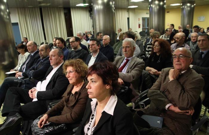 I sindaci e i rappresentanti del territorio presenti all'incontro