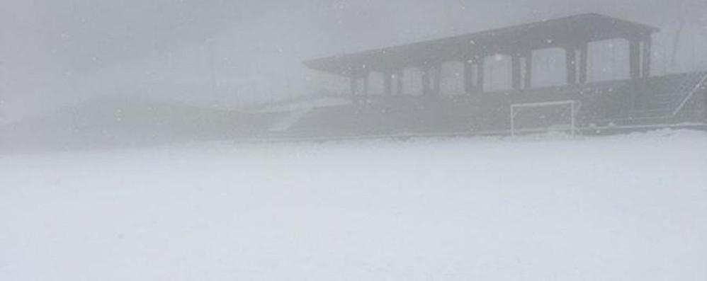 Anche lunedì codice giallo per neve E a Berbenno è tutto bianco - Foto