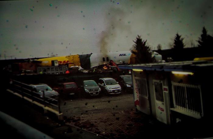 Il cargo andato in fiamme