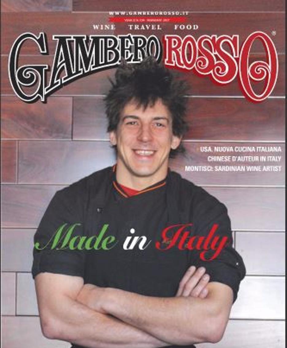 Michele Belotti sulla copertina del Gambero Rosso