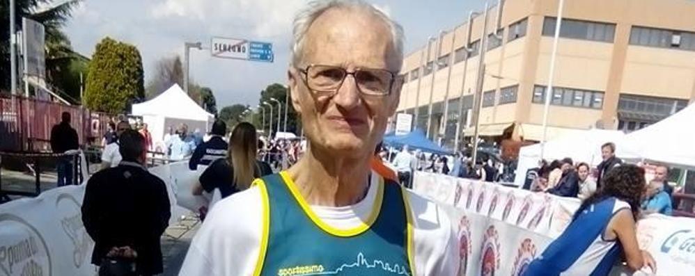 Superman a 77 anni: 124 km di corsa Antonio Cernuschi campione italiano