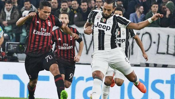 Juventus-Milan: un turno di stop a Bacca