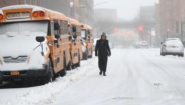 Usa: tempesta di neve, 31 mln in allerta