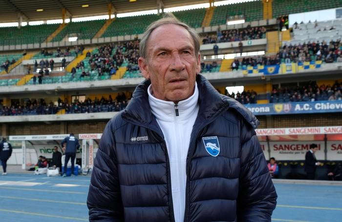 Zdenek Zeman è di nuovo sulla panchina del Pescara  ANSA/ FILIPPO VENEZIA