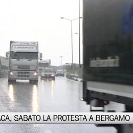 Protesta Tir lumaca