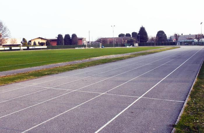 La pista d'atletica a Torre Boldone