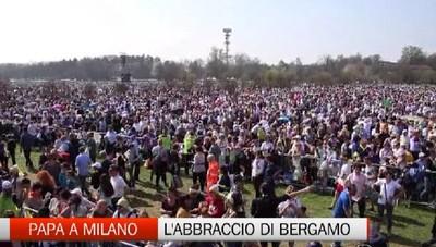 L'abbraccio di Bergamo a Papa Francesco