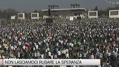 Un milione all'incontro con il Papa