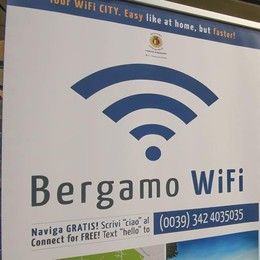 Wifi, Bergamo supera quota 100 «L'obiettivo è espandersi» - Mappa