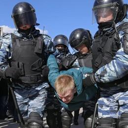 Polizia conferma, 500 fermi oggi a Mosca