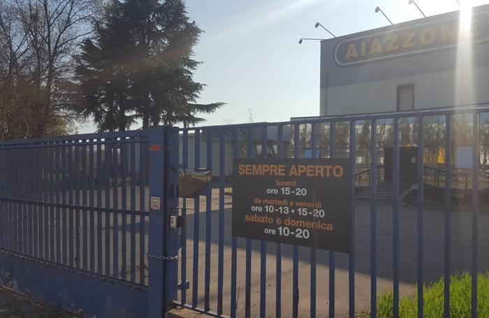 Il mobilificio Aiazzone a Pognano