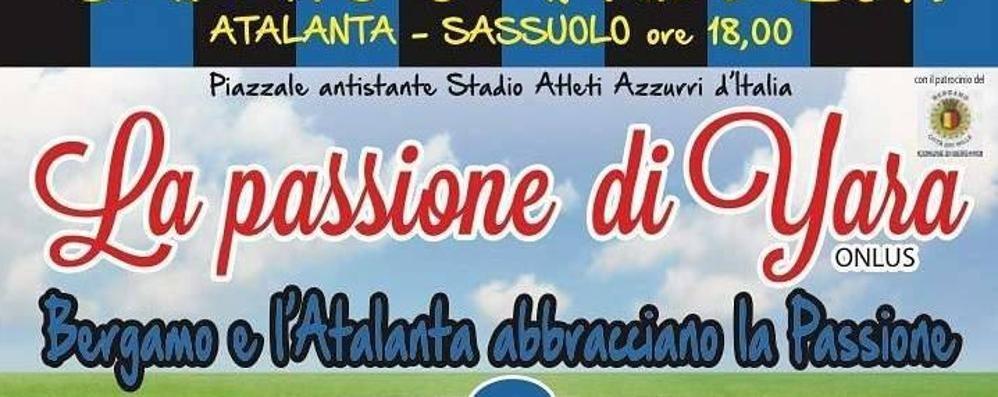 Serata di festa per l'associazione di Yara Fuori dallo stadio dopo Atalanta-Sassuolo