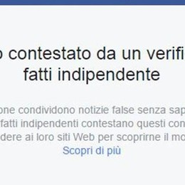 Facebook e la lotta alle news false Arriva la prima notizia «contestata»