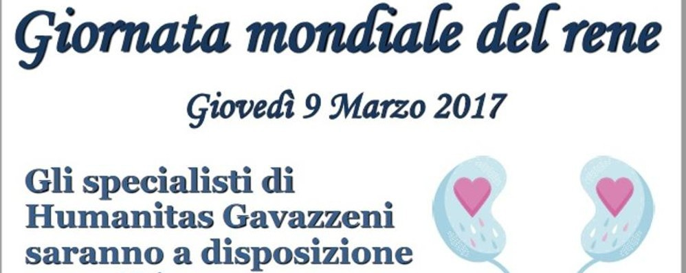 Giovedì Giornata mondiale del rene  In Gavazzeni consulenza gratuita