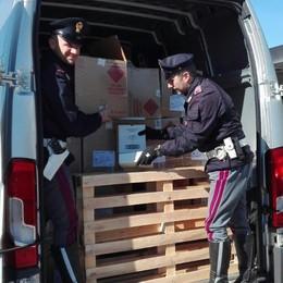 Nel furgone 87 scatoloni rubati   Profumi razziati per 50 mila euro
