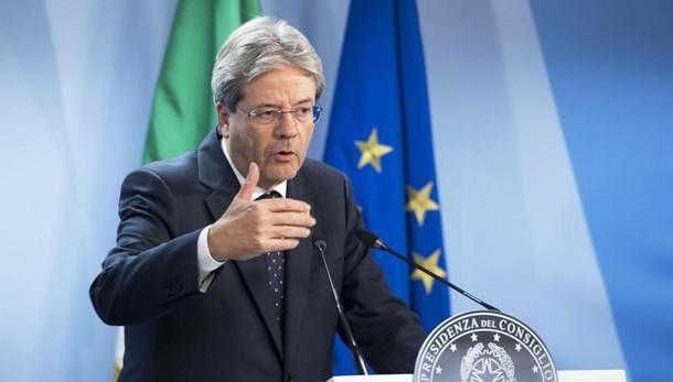 Gentiloni,Italia lavora contro divisioni