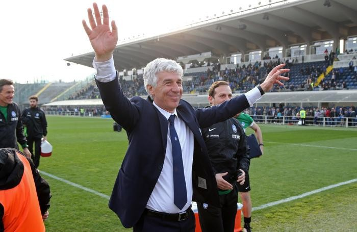 AtalantaÕs head coach Gian Piero Gasperini during the Italian Serie A soccer match Atalanta vs Pescara at Stadio Atleti Azzurri d'Italia in Bergamo, Italy, 19 March 2017. ANSA/PAOLO MAGNI