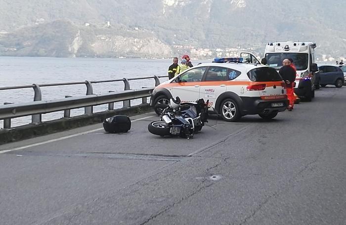 La moto coinvolta nel tragico incidente