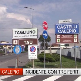 Tre feriti in un incidente a Castelli Calepio