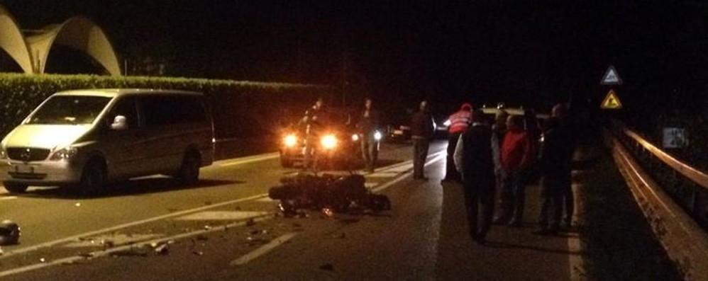 Vigano, schianto mortale auto-moto La vittima è un 58enne di Trescore