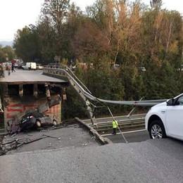 Ponte crollato ad Annone Brianza Sarà ricostruito entro il 2018
