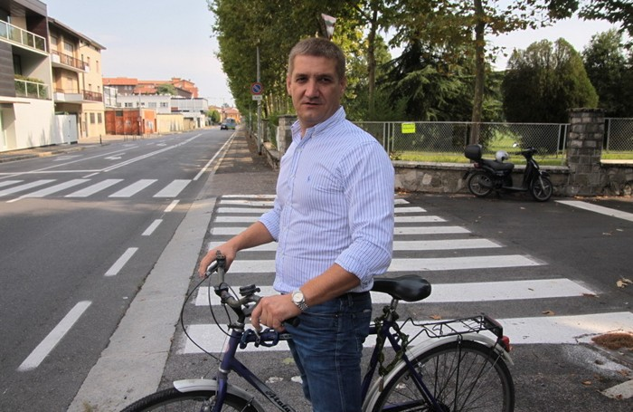 Fabrizio Segnini, multato in via Baioni