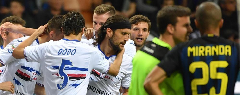 La Samp abbatte l'Inter a San Siro Atalanta quinta: Europa più vicina