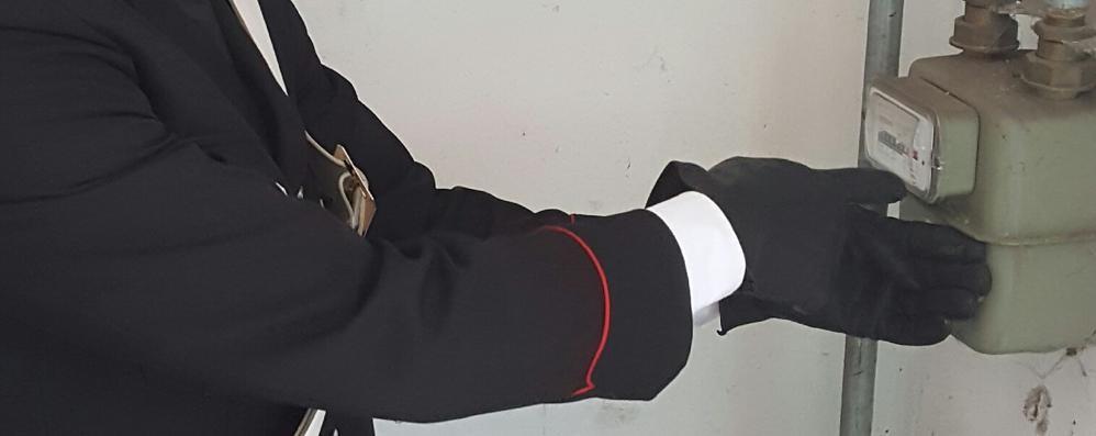 Zingonia, allacci abusivi al gas   Raffica di sequestri dei carabinieri