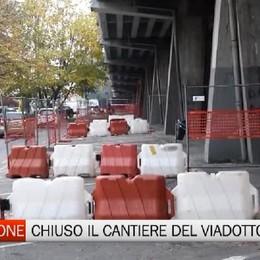 Riapre la strada sotto il viadotto di Boccaleone
