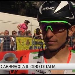 Giro d'Italia, i tre ciclisti bergamaschi all'arrivo di tappa