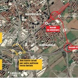 Bergamo, nuovo rondò dell'autostrada La soluzione è a Campagnola - Guarda