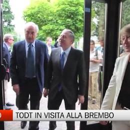 Curno, Jean Todt in visita alla Brembo