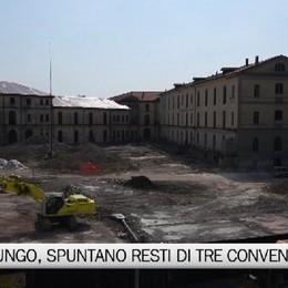 Demolizione Montelungo, spuntano resti di tre conventi