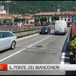 Sarnico - Il ponte dei tifosi bianconeri