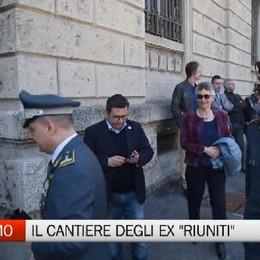 Bergamo, sopralluogo al cantiere degli ex Riuniti